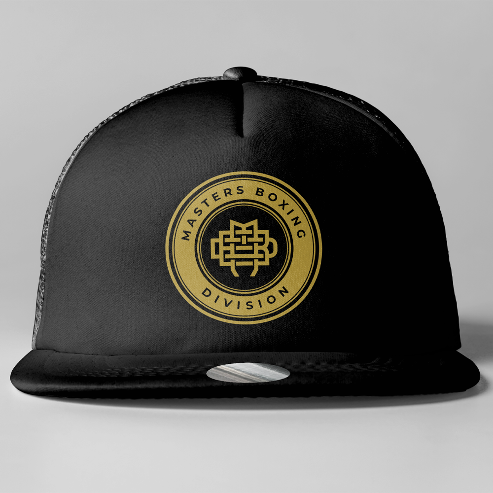 Black and Gold Trucker Cap