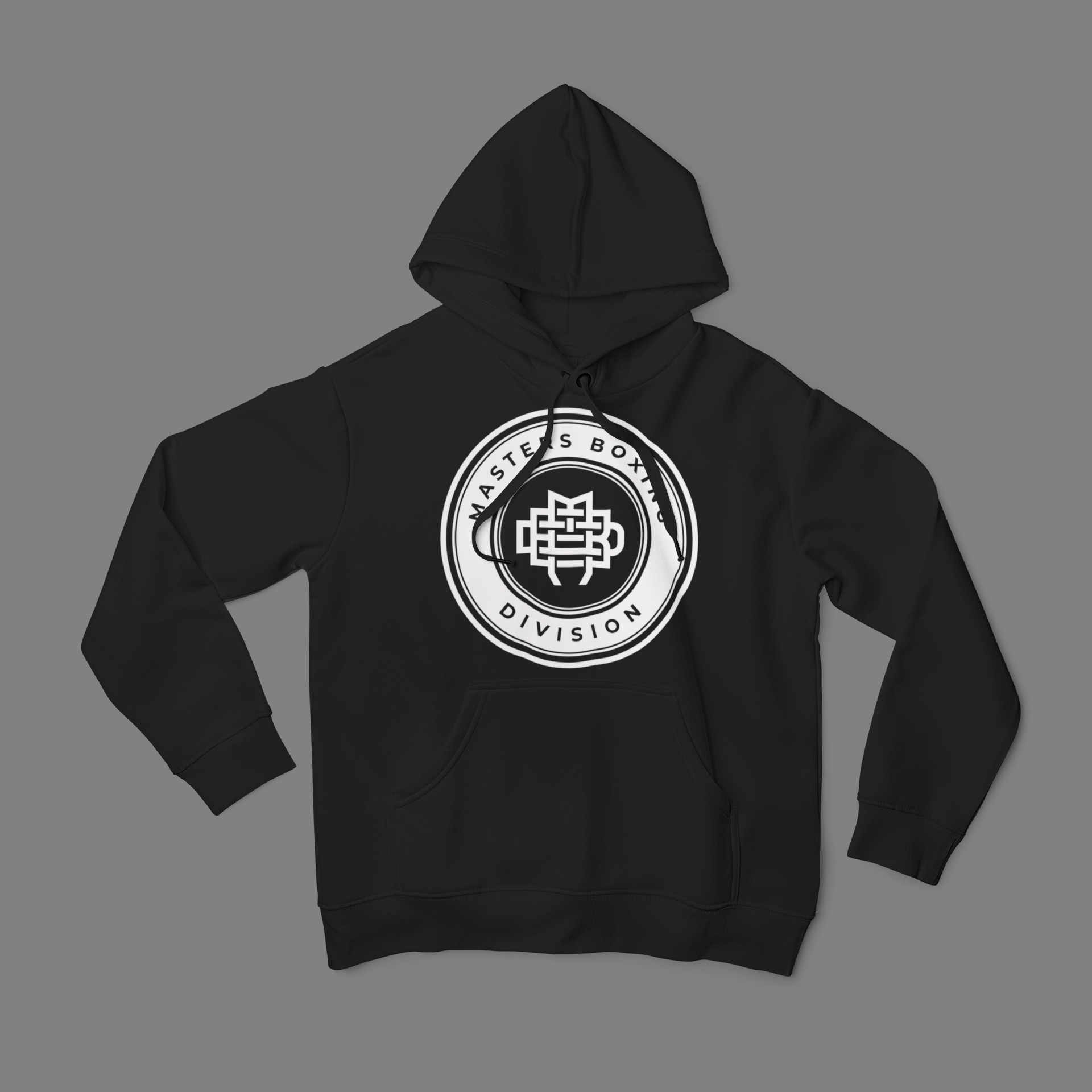 MBD White on Black Hoodie